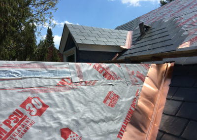 Roofing installation by Bradley's Roofing.