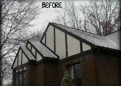 Before image of home siding project.