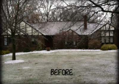 Before image of Bradley's Roofing siding project.