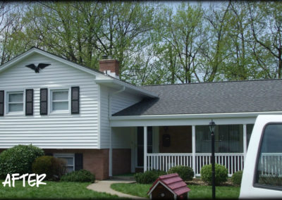 Shingle Roofing installation by Bradley's Roofing.